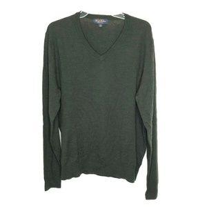 Brooks Brothers Saxxon Wool Men V-neck Sweater